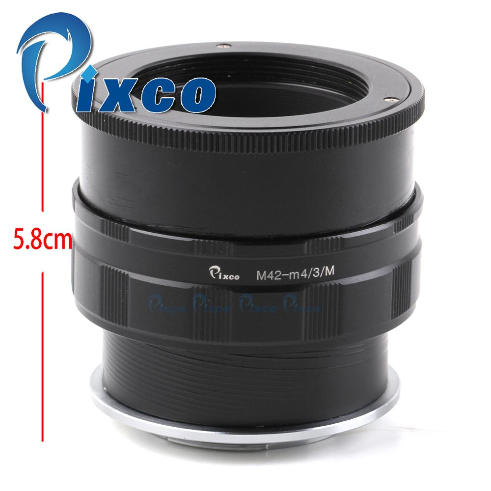 Pixco Adjustable Focusing Macro To Infinity Lens Mount Adapter Suit For M42 Lens to Micro Four Third 4/3  Camera GM1 GF6 E-M10