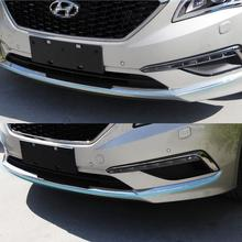 Car ABS Chrome   Racing grille Bumper scuff trim 3pcs  products for Hyundai Sonata 2014 2015