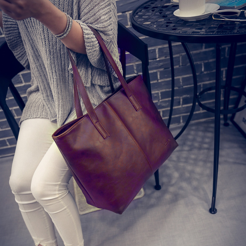 Fashion Women Leather Shoulder Bags Tote Satchel Purse Messenger Large Handbag Bolsas Sac A Main,Borse Large Shoulder Bags 2016 women messenger bags leather shoulder bag ladies handbags small crossbody purse satchel bolsas fashion tote bags