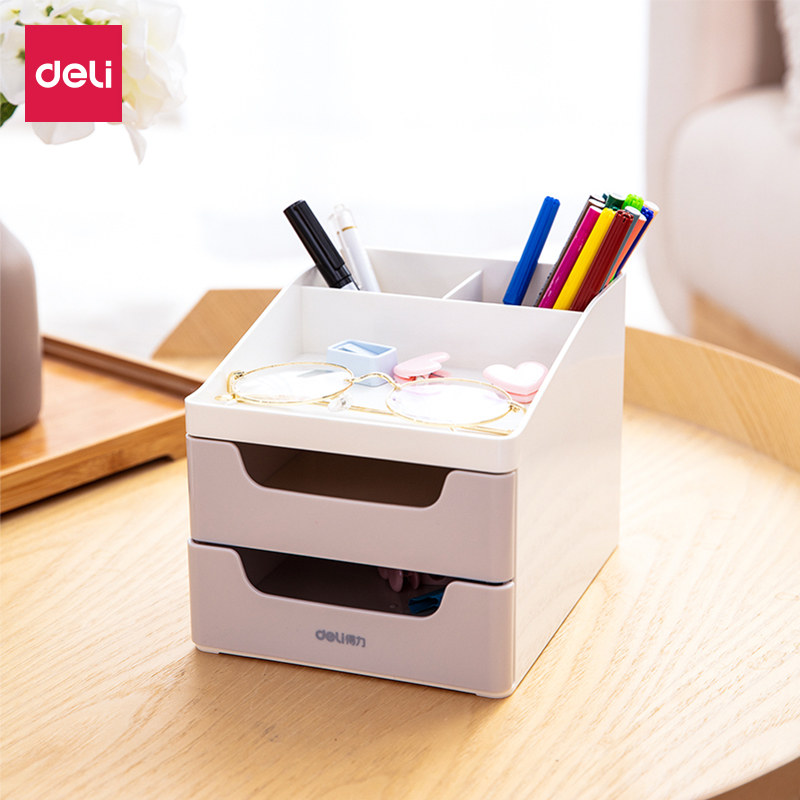 Deli 8901 Stationery Holder Desktop Stationery Storage Box Desktop Creative Multi-functional Pen Holder Office & School SuppliesDeli 8901 Stationery Holder Desktop Stationery Storage Box Desktop Creative Multi-functional Pen Holder Office & School Supplies