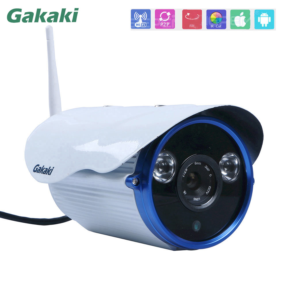 Gakaki HD 720P IP Camera Wifi Wireless CCTV Outdoor Waterproof Security Ip Cam IR Night Vision WI-FI ONVIF Mobile Remote Camaras outdoor 720p ip camera hd wireless wifi array ir night vision bullet onvif waterproof cctv security ip 1mp network web camera