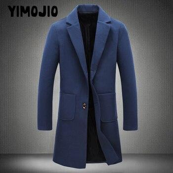 Coat Men Casual Long jacket men Trench coat Streetwear Slim Solid Male Windbreaker Trenchcoat in