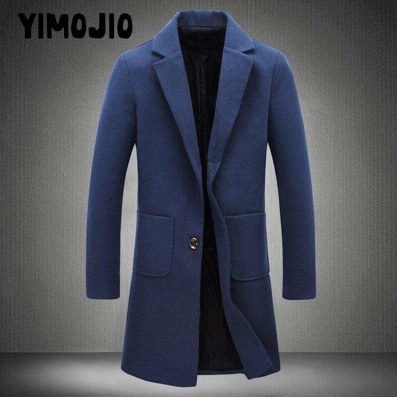 Manteau Hommes Casual Longue veste hommes Tranchée manteau Streetwear Mince Long manteau hommes Solide Mâle Coupe-Vent Trench en hommes
