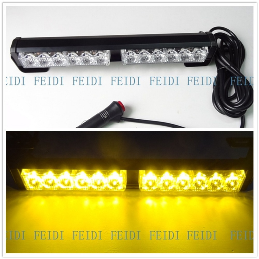 09012 pairs of 12 volts 12 watts warning lights, front and rear lights, emergency lights blue white red yellow white amber LED