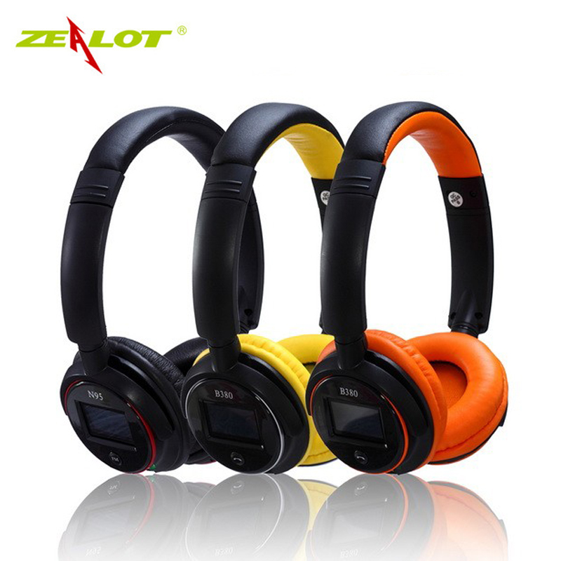 ZEALOT B380 Wireless Bluetooth Headphones Earphone Support Hands-free TF Card FM Radio Stereo Headset with MIC for Cell Phone PC