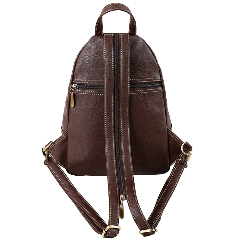 Image 3 - Multifunction Vintage Soft Artificial Leather Mini Backpack Purse