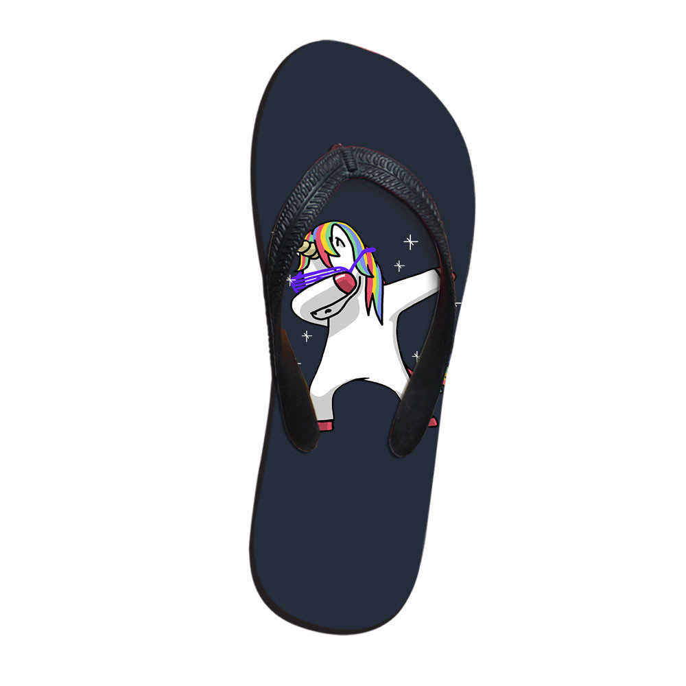 52d12752b9715 Cool DAB Panda unicorn swag unicorn Men Slippers Fashion Summer ...