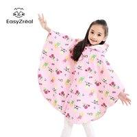 EasyZreal Cloak Hooded Children Raincoat Outdoor Touring Kids Rain Coat Animal Cartoon Boy Girl Rain Gear