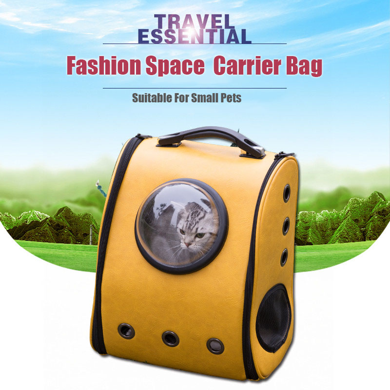 Great backpack for carrying Pets with a window and holes for ventilation.