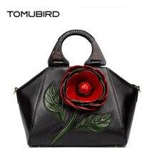 TOMUBIRD 2017 новый улучшенный кожа дизайнерский бренд женщины сумки мода выбивая мерной цветок из натуральной кожи сумки