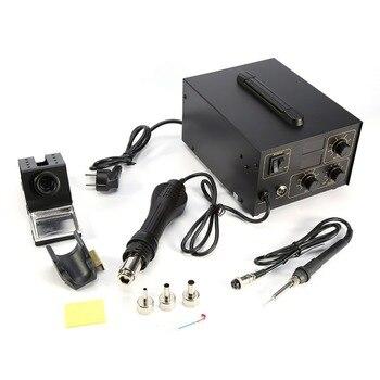 2 in 1 Rework Soldering Station 998D LED Digital Solder Hot Air Gun Electric Iron Repair Tool