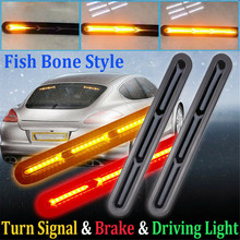 2x 2835 SMD 60LED Car Truck DRL LED Light Bar Brake Flowing Turn Signal Stop Tail Strip Driving/Tail Lights Brake Lamp