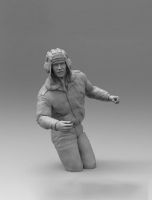 1/16  Soviet T-72 Soldier  Winter Resin Figure Model Kits Miniature Gk Unassembly Unpainted