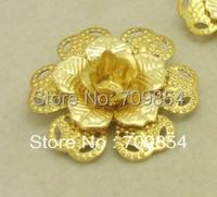 25mm flower shape filigree beads DIY accessories