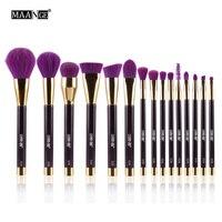 MAANGE High Quality 15pcs Makeup Brushes Set Foundation Powder Eyeshadow Eyeliner Lip Contour Concealer Smudge Brush