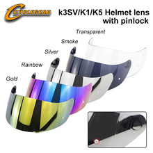 High Quality Origin Pinlock K5 K3SV K1 Motorcycle Helmet Visor Casco Shield Capacetes Accessories&Parts Lens