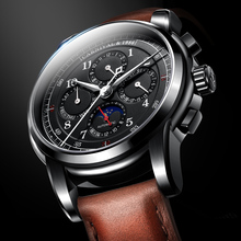 2018 Fashion Moon phase Multi-function Dial relogio masculino Carnival Automatic Watches Men Luxury Brand Mechanical Clock Gift
