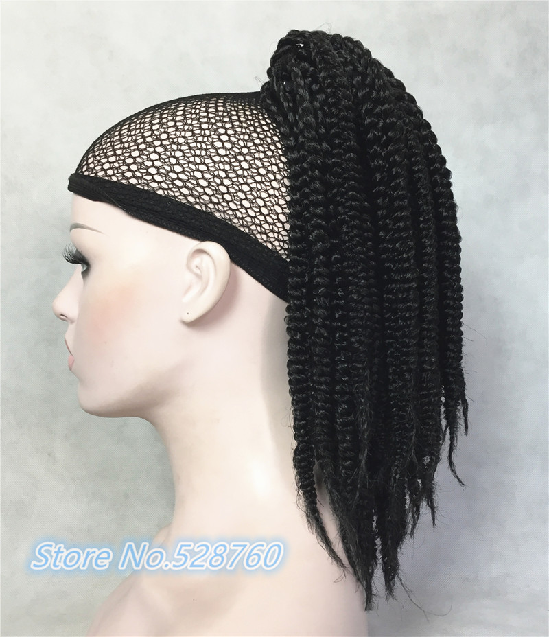 Crochet Hair Ponytail : Twist Crochet Braids Hair Weave Ponytail Hairstyles Black box braids ...