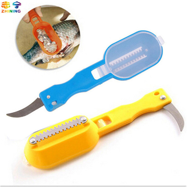 fish scale scraper fish cleaning skin brush with base cover knife cooking Seafood tool multifunctional kitchen necessary C-71