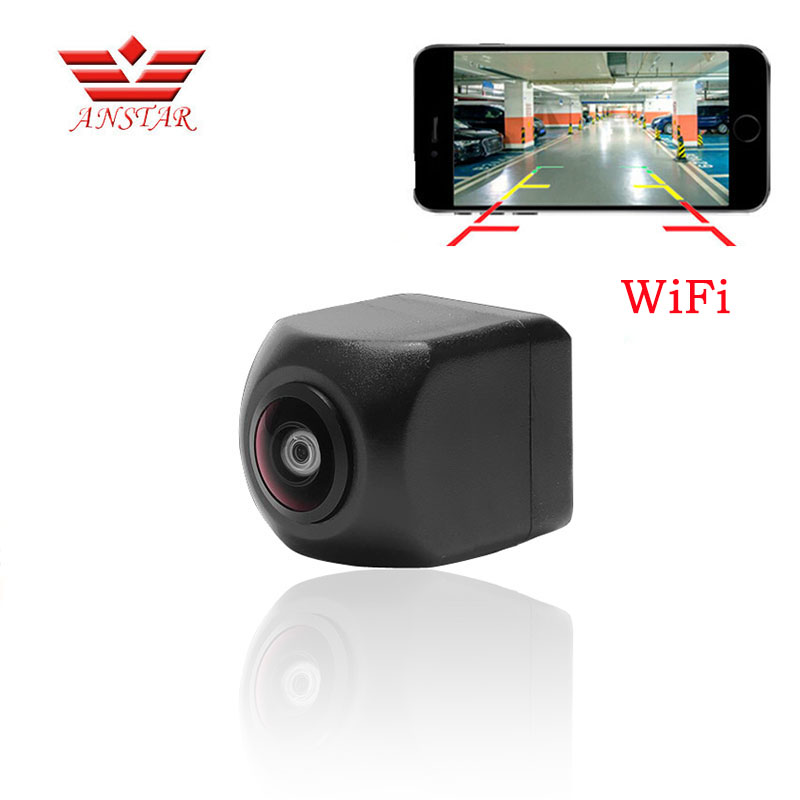 ANSTAR Mini Wifi Waterproof HD Night Vision Car Backup Reverse Camera Rear For IOS and Android Monitor Parking Rear View Camera gl 8902w wifi backup camera car wireless rear view apply ios and android apps
