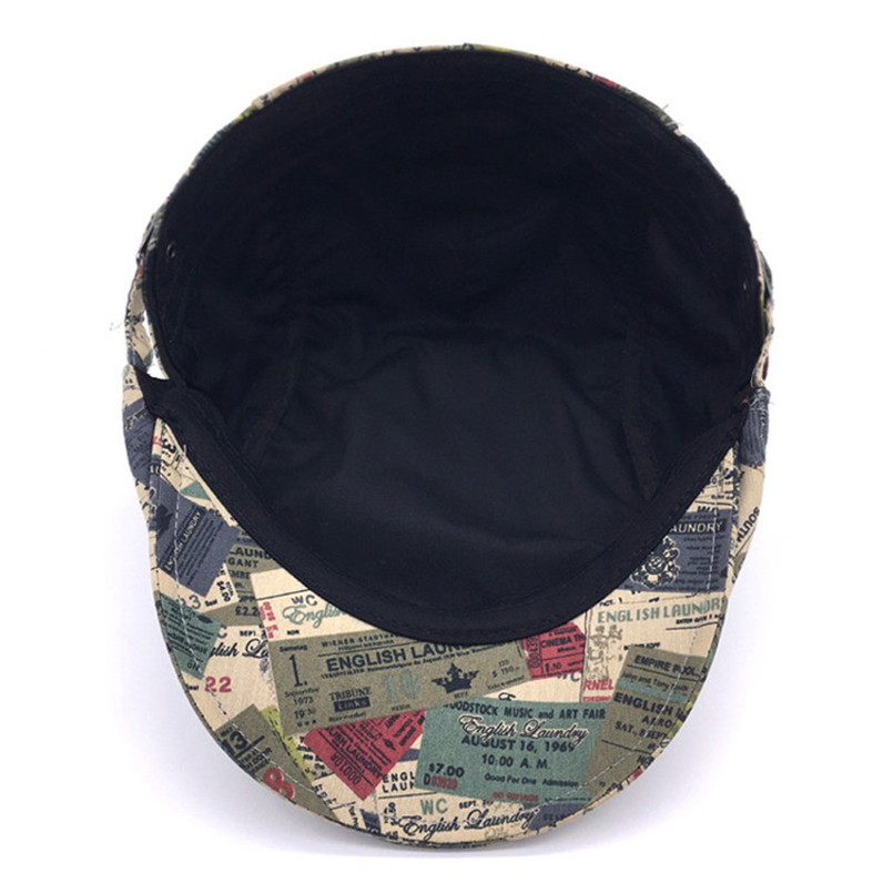 British Retro 2017 Autumn Adjustable Beret Unisex Mens Women Hats Stamp  Pattern Flat Cap Boina Hat Gorras Planas Driving Sun Hat-in Berets from  Apparel ... e4178db8aab3
