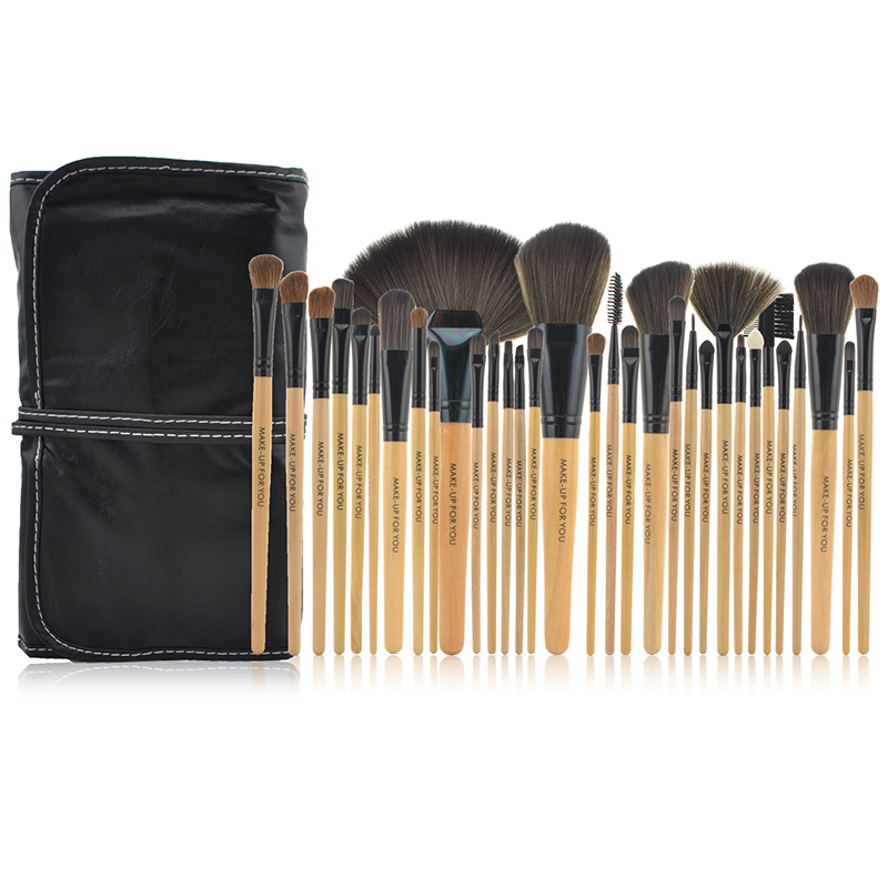 Pinkiou 32pcs Make Up Brush Set Professional Cosmetic Tool Sets makeup Brushes kit with PU bag for you wood powder kit free shipping durable 32pcs soft makeup brushes professional cosmetic make up brush set