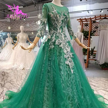 AIJINGYU Wedding Dress Transparent Lace For Sale Ball Gown