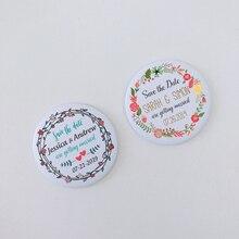 Персонализированные магниты для сохранения даты, свадебные приглашения на заказ, магнит на холодильник для сохранения даты на свадьбу, 58 мм, 2,25 дюйма
