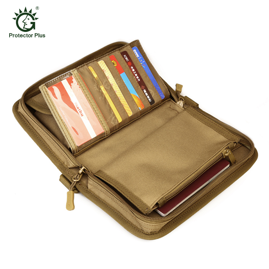Tw-folded Tactical Wallet With Attachment Money Pouch Bag ID Card Case Credit Card Holder Organizer Hunting Bags for Phone Bag excellent elite spanker military vertical id card credit card tactical holder two in one with adjustable