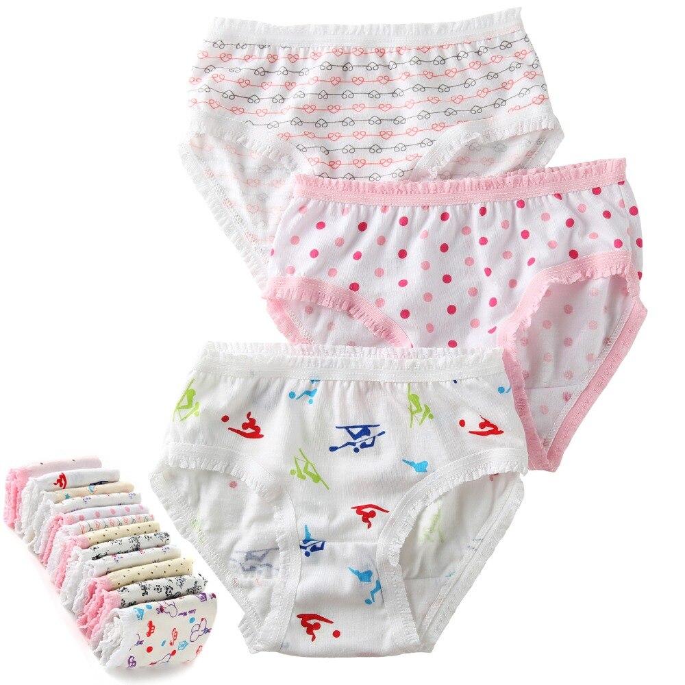 panty kids 6Pcs/Lot 2-8y 100% Organic Cotton Baby Kids Girls Briefs Girl Underwear Children Shorts Panties For Children's Underwear 2-8 y