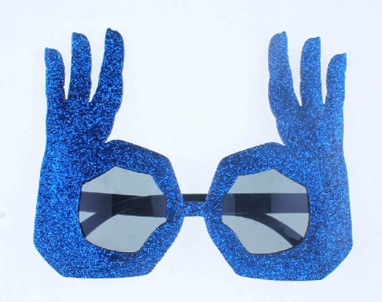 novelty fashion ok finger hand gesture costume party funny glasses