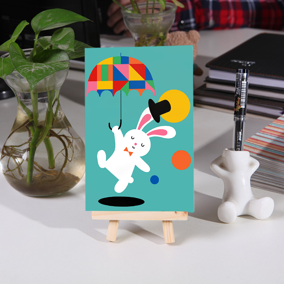 Coloring by numbers for rabbits - Children Diy Oil Painting Coloring By Numbers Cut Bunny Student Hand Painted Poster With Easel Home