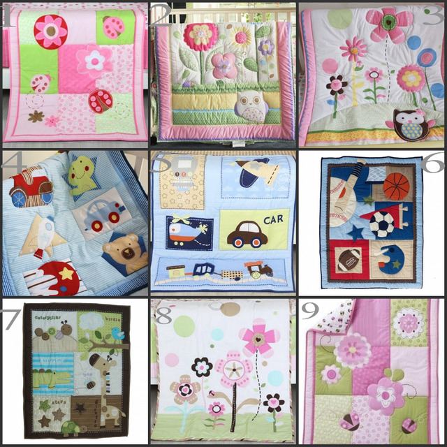 Flowers And Animalssports Transportation Liqued Baby Quilts Infant Comforter For Nursery Bedding Kit Many Colors