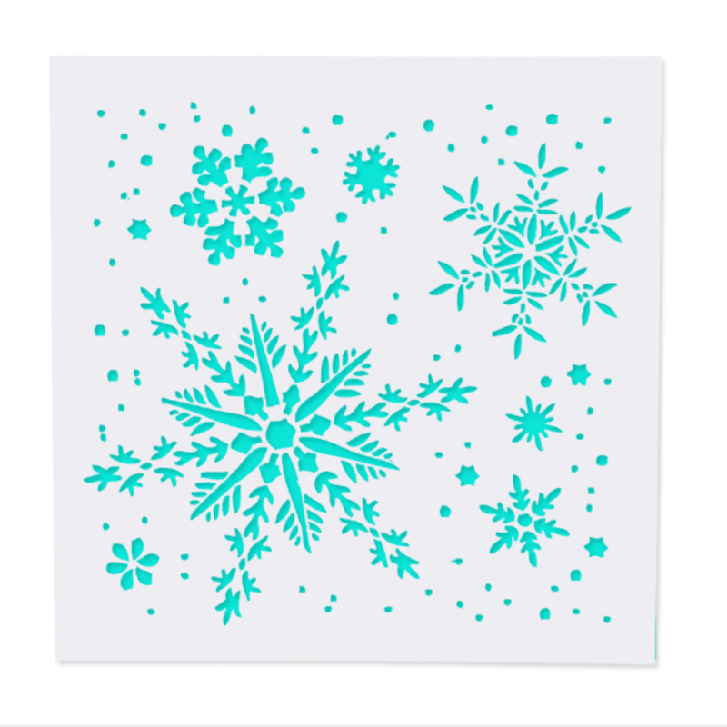 1pcs Snowflake DIY Craft Hollow Layering Stencils For Wall Painting Scrapbooking Stamp Album Decorative Embossing Paper Card