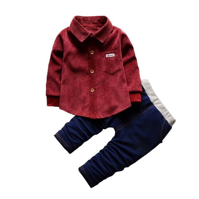 55b0a86e0fe2 Baby Boy Clothes Set Gentleman Suit Toddler Boys Children Clothing Sets  Long Sleeve Shirt+pants Kids sport suit Boy Tracksuit