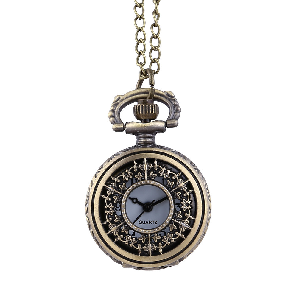 Steampunk Pocket Watch Mechanical Pocket Watches Flip Clock Necklace Retro Quartz Hanging Table  Pocket Fob Watch Chain LD