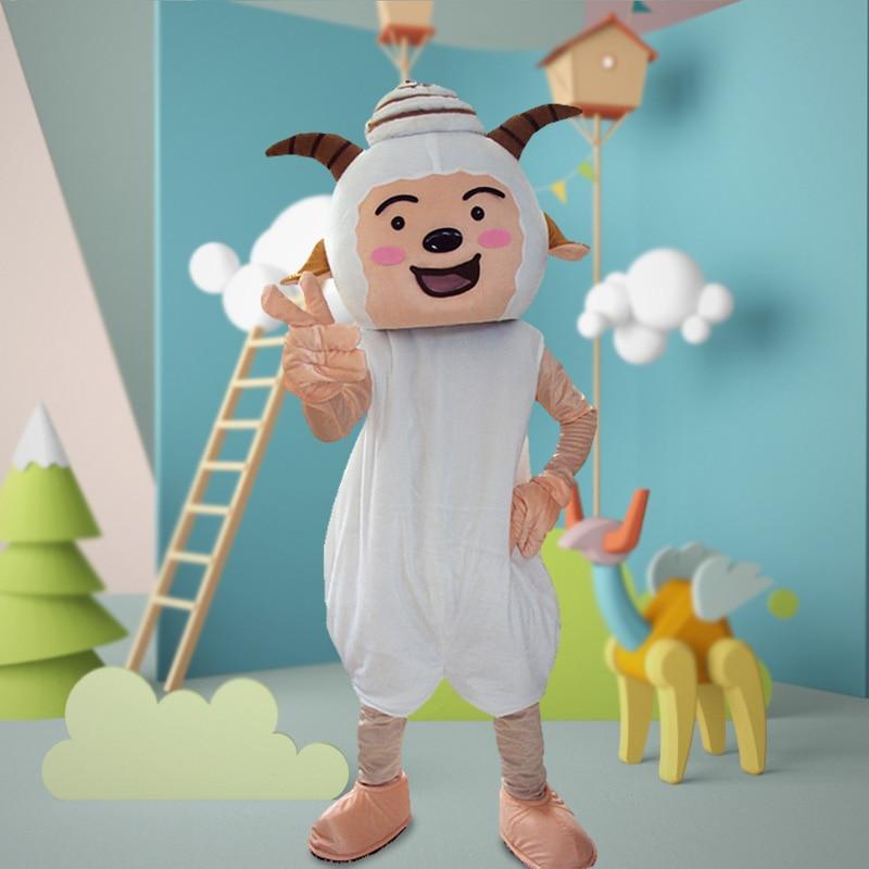 Mouton mascotte Costume costumes Cosplay partie jeu robe tenues vêtements publicité carnaval Halloween noël pâques Festival adultes - 6
