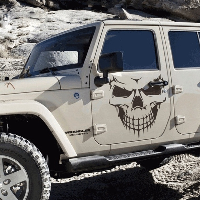 Cmcm Big Skull Funny Personality Cool Car Stickers Exterior - Cool custom motorcycle stickers
