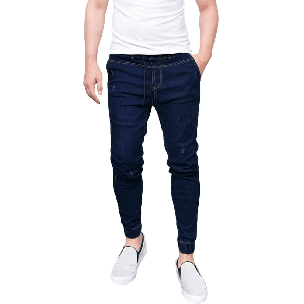 Men's   Jeans   Stretchy Slim Fit Denim Pants Casual Long Trousers   Jeans   men high quality d90403
