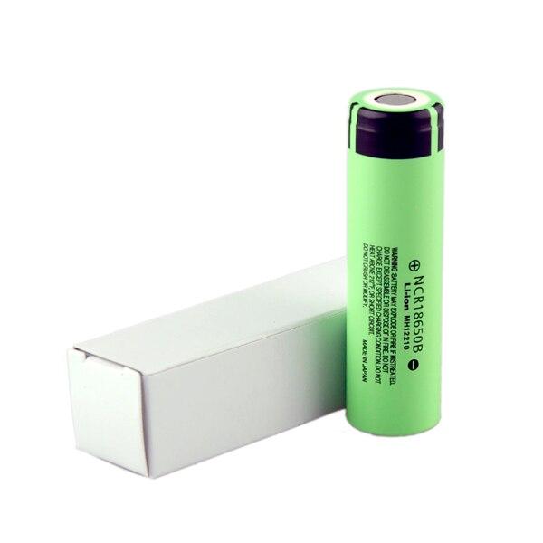 2 pièces NCR18650B 3.7 V 3400 mah 18650 Lithium Rechargeable 18650 batterie pour Vape E-Cigarette vaporisateur batterie de Cigarette électronique