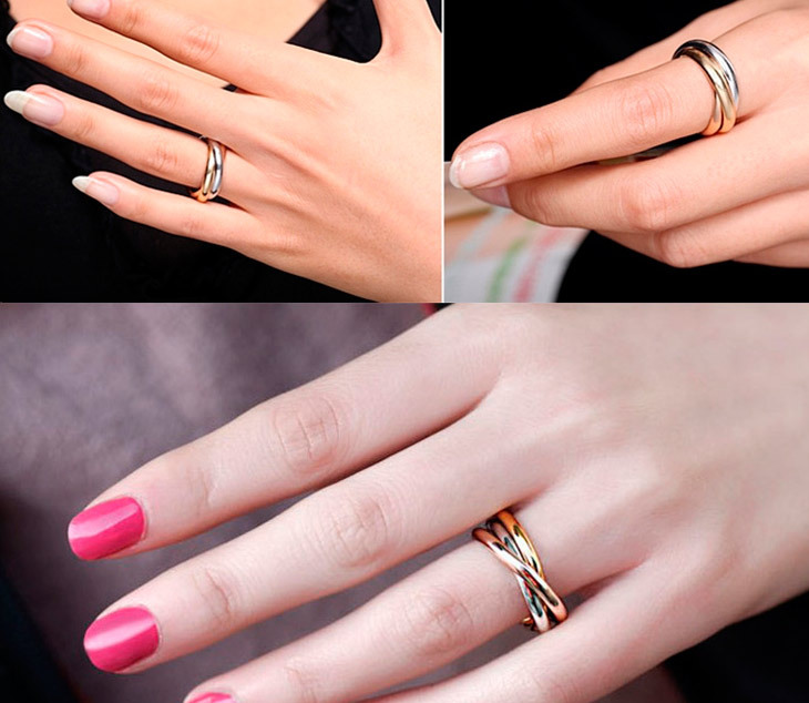 Only 3 Color Anel 18k Gold Plated Brand Rings For Women Elegant Party Wedding Rose Fine Jewelry R5000 In From Accessories On