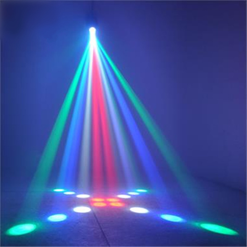 Rotate Automatic Voice Control DJ Laser Light for KTV Bar Party Stage Wedding Background Lights w188a led rgb voice control stage light lamp for ktv bar party white