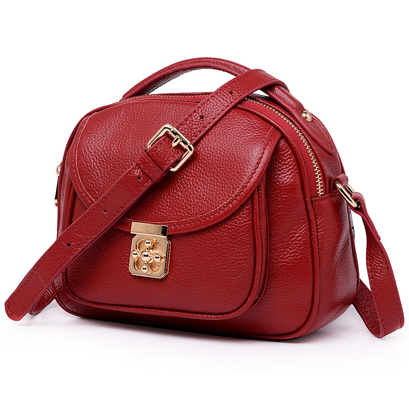 2019 New European Fashion Women bags handbag Cross body bag Genuine cow Leather small Shoulder bag