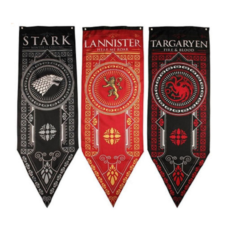 Home Decor Game Of Thrones Banner Flag Stark Tully Targaryen