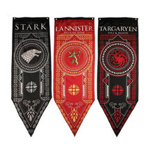Decor Flags Lannister Flag Living Room Bedroom Game of Thrones Party Supplies Tournament Banners Set Night Watch Flag(China)