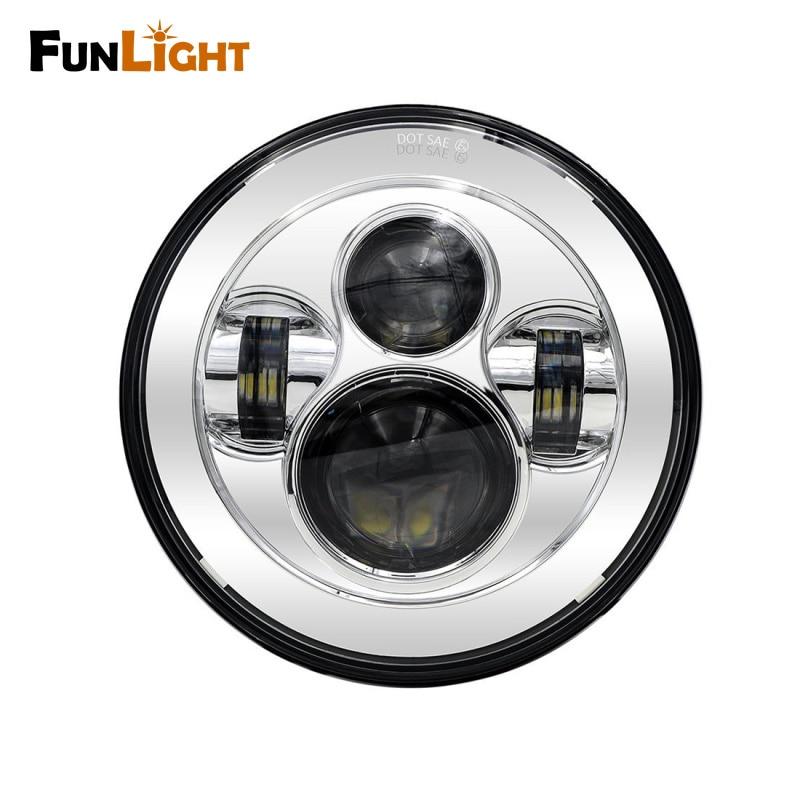 Chrome 7 in. Daymaker Projector LED Headlamp Headlight For harley-davidson FLS, FLSTC, FLSTF FLSTFB FLSTN Touring Trike Lights