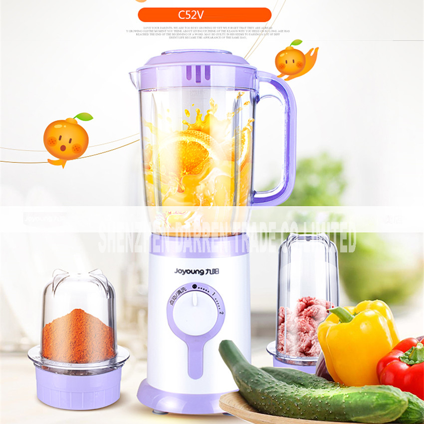 JYL-C52V Household Juicer multifunctional machine Juicer Juice Bottle Small Fruit Squeezer Machine Ground meat, dry grinding glantop 2l smoothie blender fruit juice mixer juicer high performance pro commercial glthsg2029