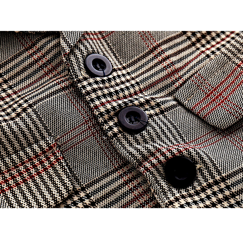 Image 3 - 2019 New baby boy rompers clothes sets children's baby clothing plaid vest pant hat boy's set gentleman suit long sleeve dress-in Rompers from Mother & Kids