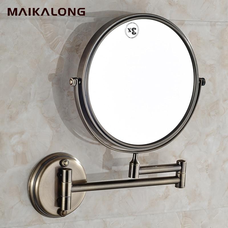Lovely Online Shop No.902 Fashion Bronze Color Makeup Mirror Magnifier Retractable  Folding Bathroom Beauty Mirror Double Faced Vanity Mirror | Aliexpress  Mobile