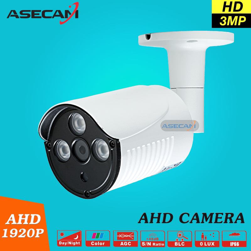 bilder für Neue Ankunft Super 3MP HD 1920 P AHD Kamera Sicherheit Weiß Metall Kugel CCTV Überwachung Im Freien Wasserdichte 3 * Array infrarot